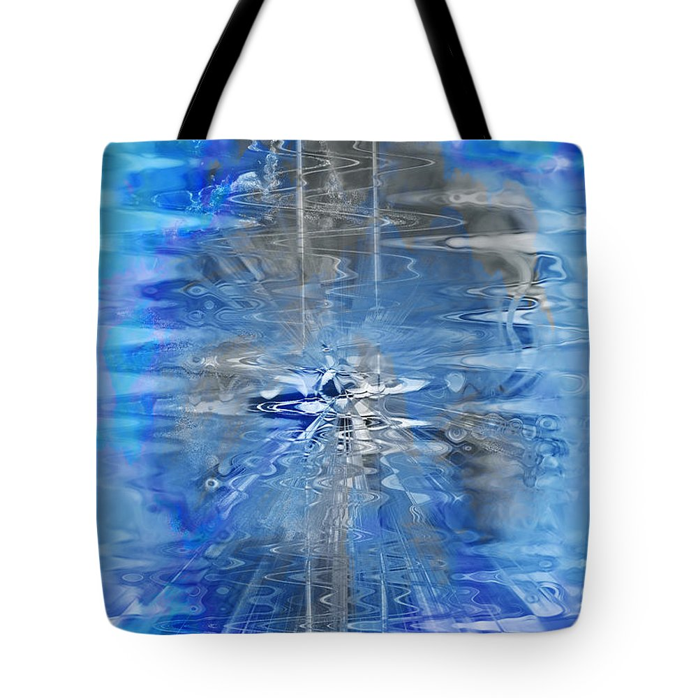 Blue Tote Bag featuring the photograph Quantum Reflections by Kellice Swaggerty