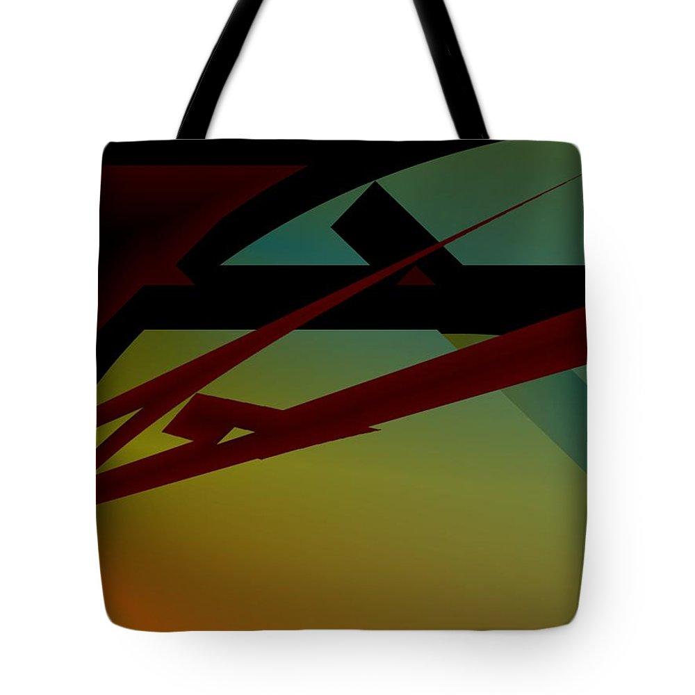 Quarter Tote Bag featuring the digital art Quarter by Helmut Rottler