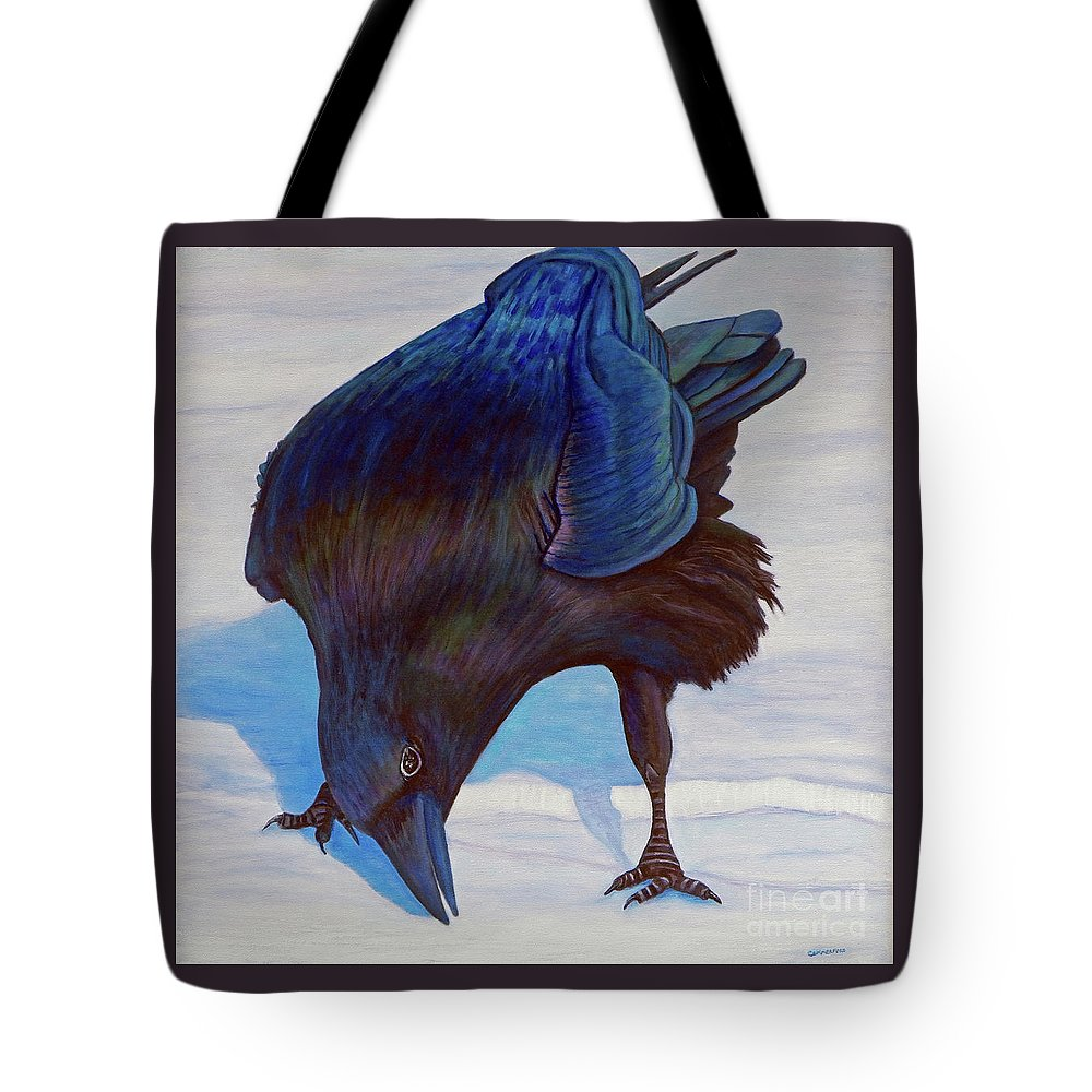 Raven Tote Bag featuring the painting Que Pasa by Brian Commerford