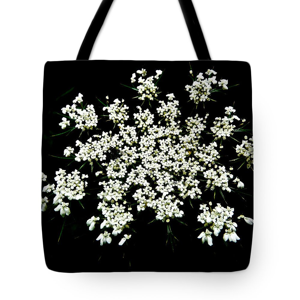 queen Anne's Lace Tote Bag featuring the photograph Queen Anne's Lace Wildflower - Daucus Carota by Mother Nature