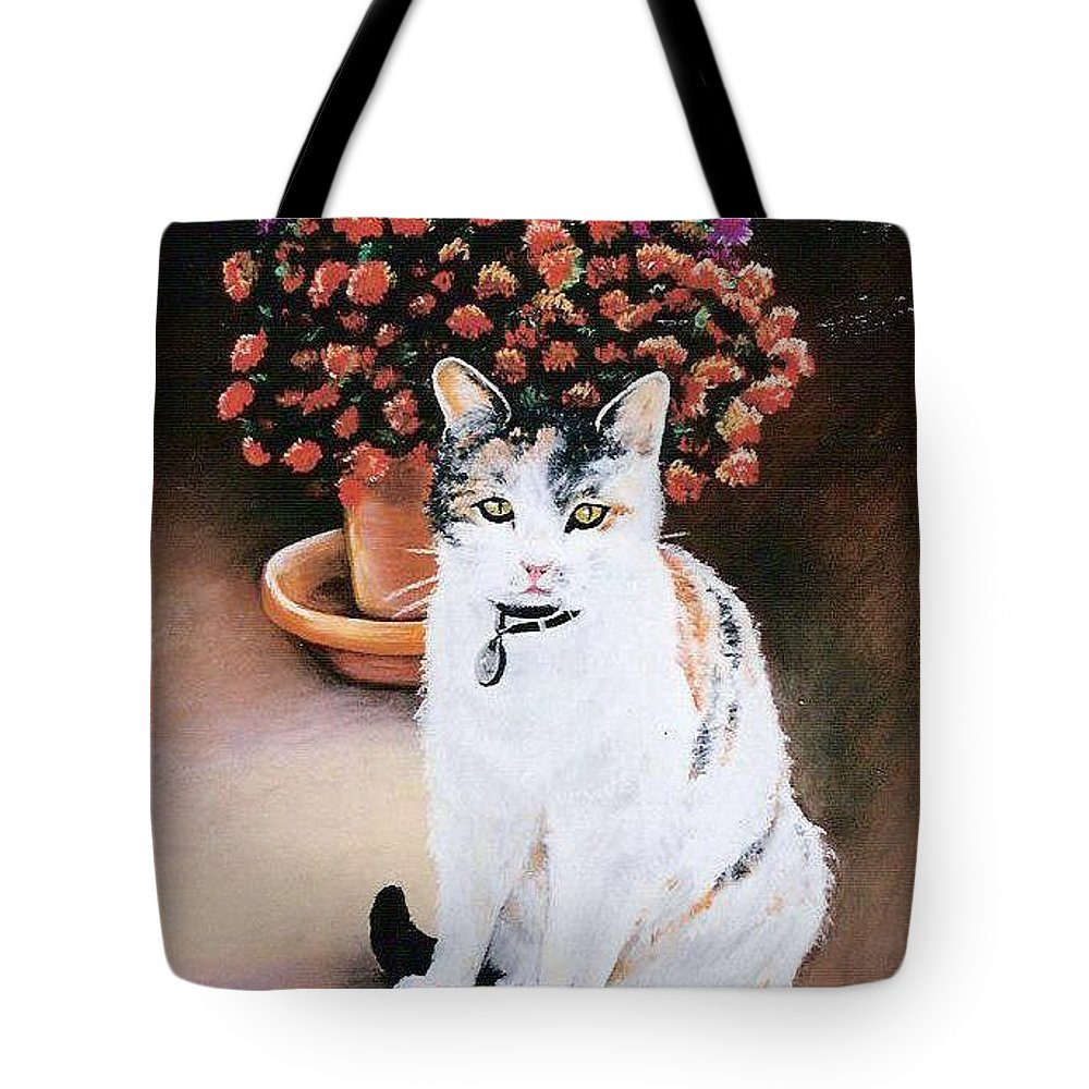 Cat Tote Bag featuring the pastel Queen Marishka by Gale Cochran-Smith