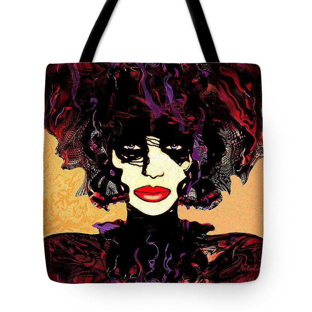 Natalie Holland Art Tote Bag featuring the painting Queen Of Butterflies by Natalie Holland