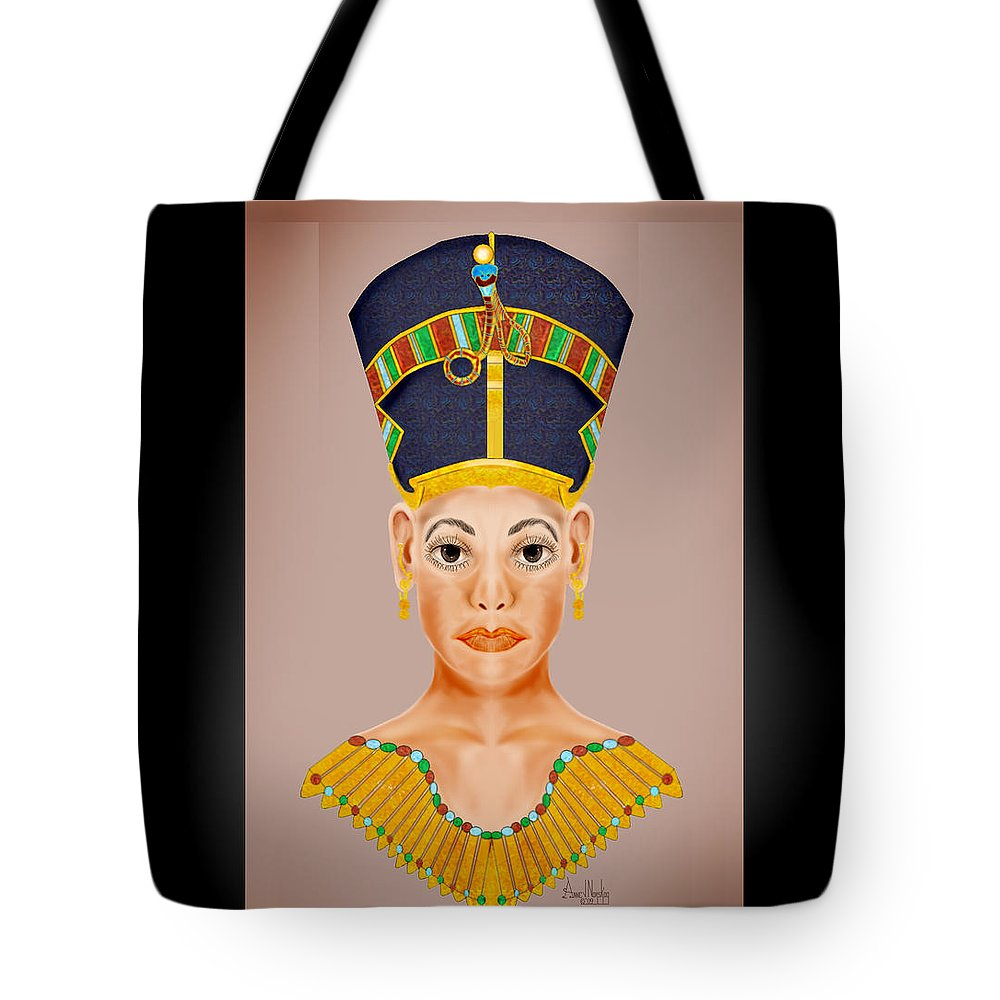 Portrait Tote Bag featuring the painting Queen Of The Nile by Anne Norskog