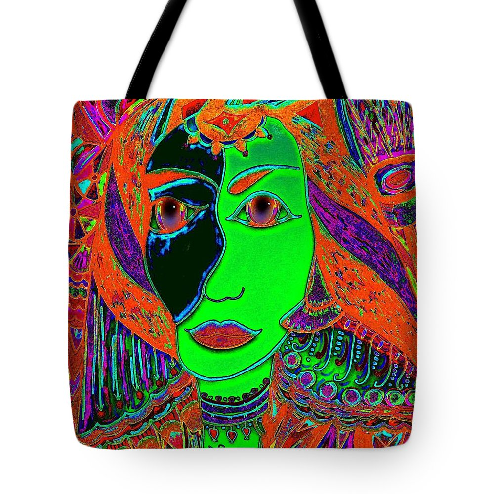Queen Of The Nile Tote Bag featuring the painting Queen Of The Nile by Natalie Holland