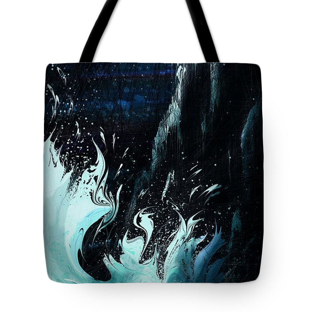 Abstract Tote Bag featuring the digital art Queen of the Seas by William Russell Nowicki