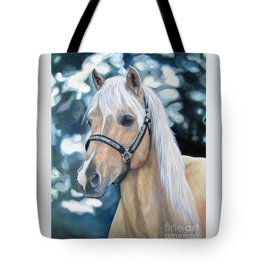 Welch Cob Tote Bag featuring the painting Queenie by Heidi Parmelee-Pratt