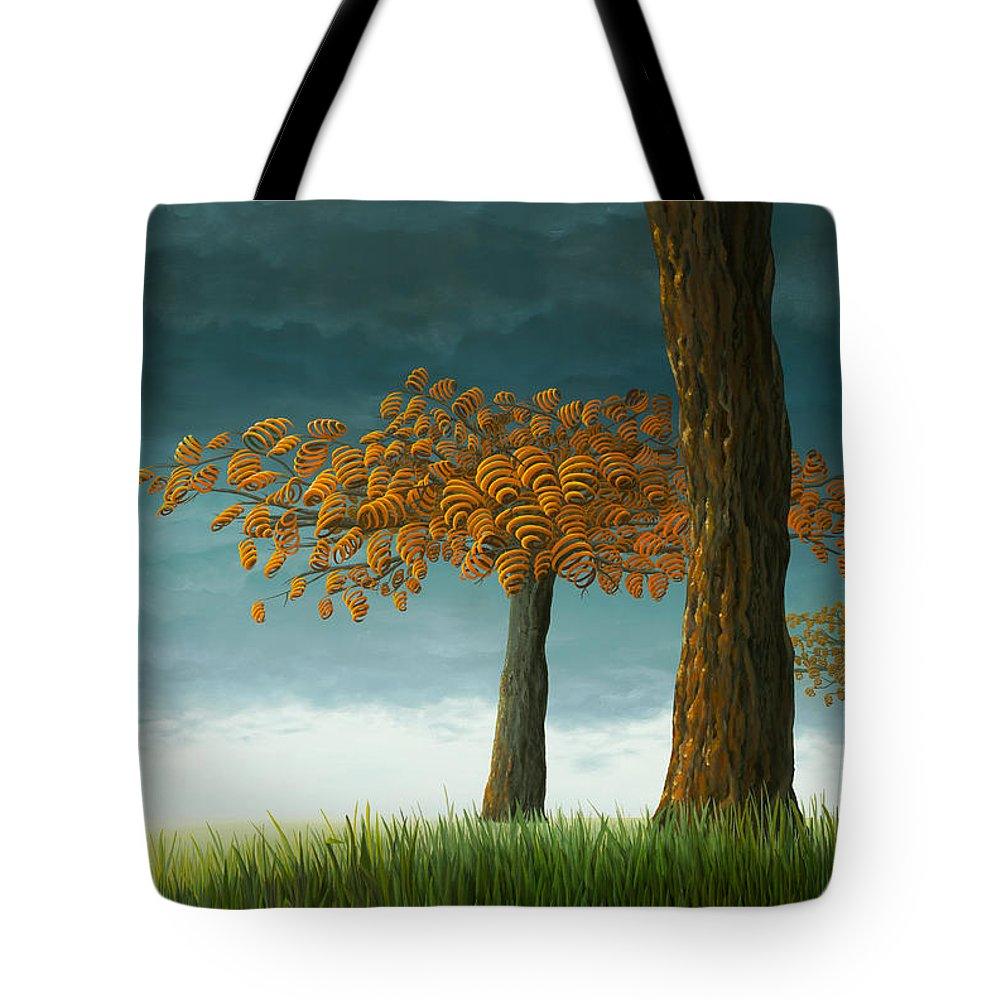 Tree Tote Bag featuring the painting Quercus Corymbion by Patricia Van Lubeck