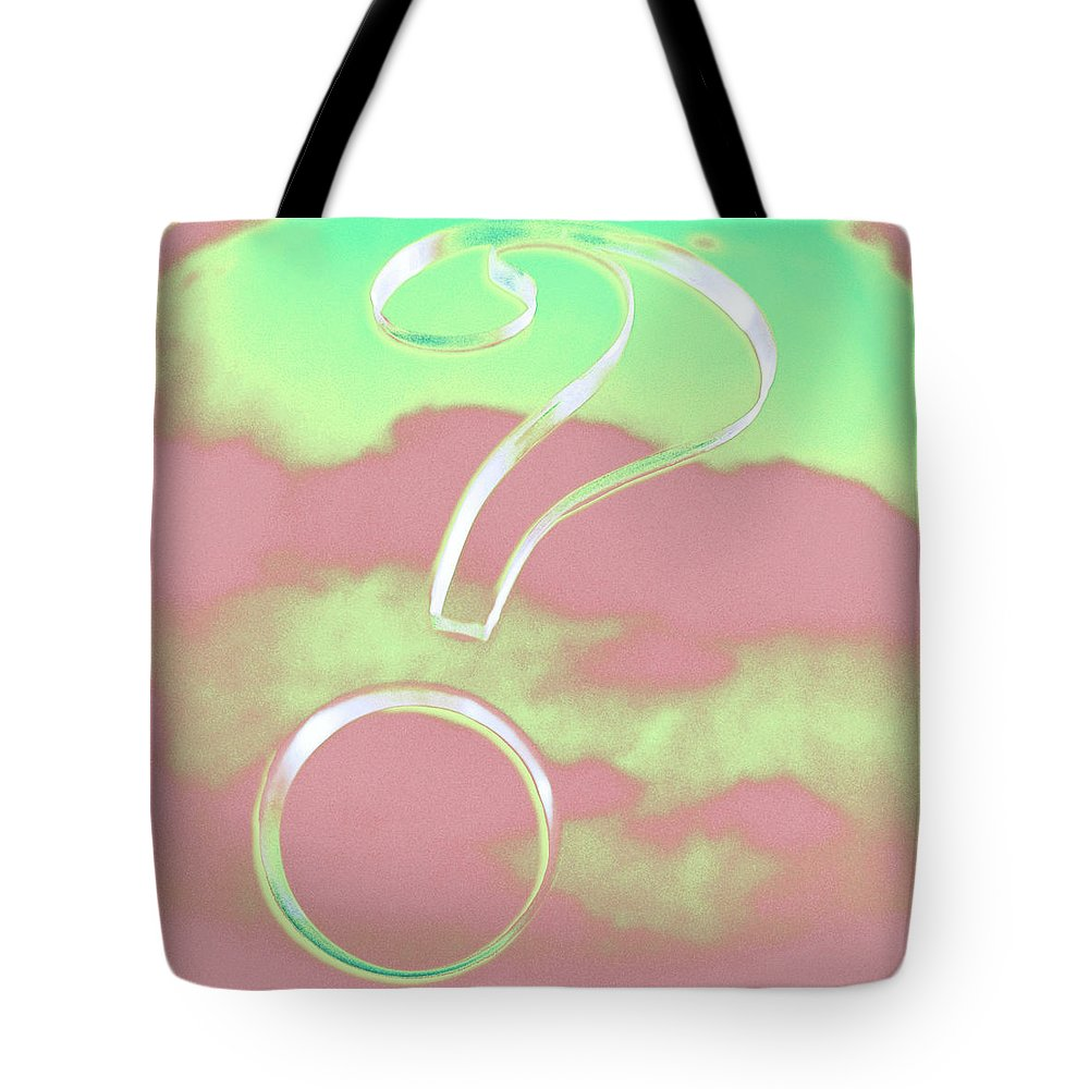 Blue Tote Bag featuring the photograph Question Mark by YoPedro