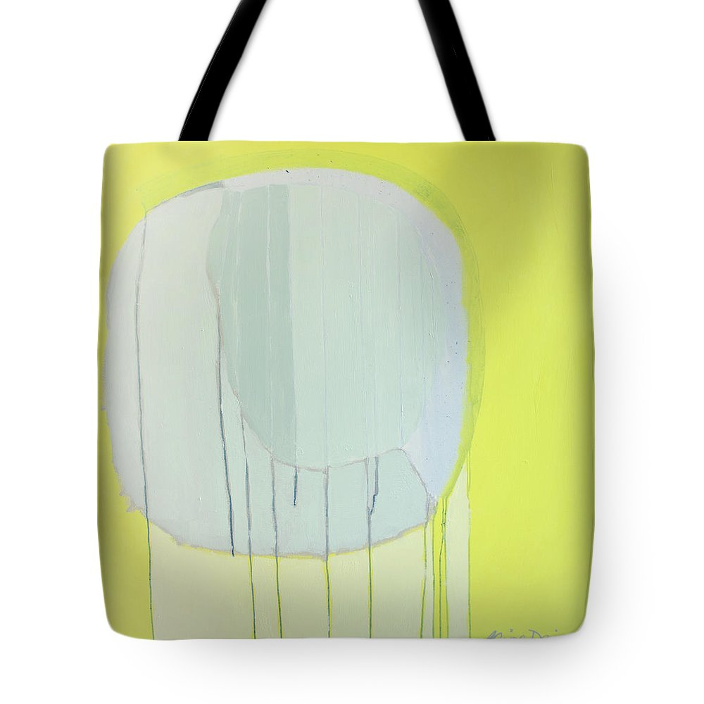 Abstract Tote Bag featuring the painting Quien Esta? by Claire Desjardins