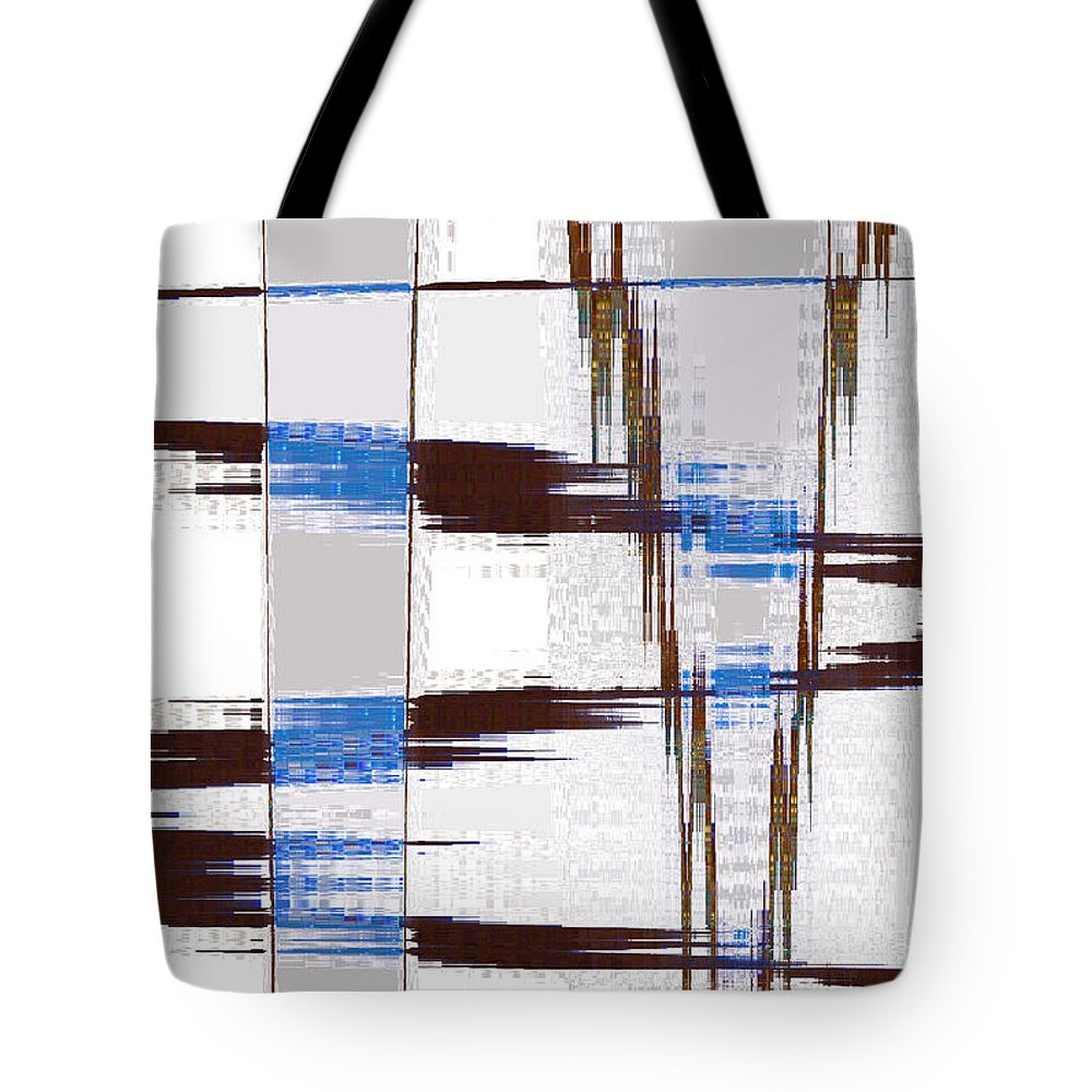 Abstract Tote Bag featuring the digital art Quiet Abstract by Lenore Senior