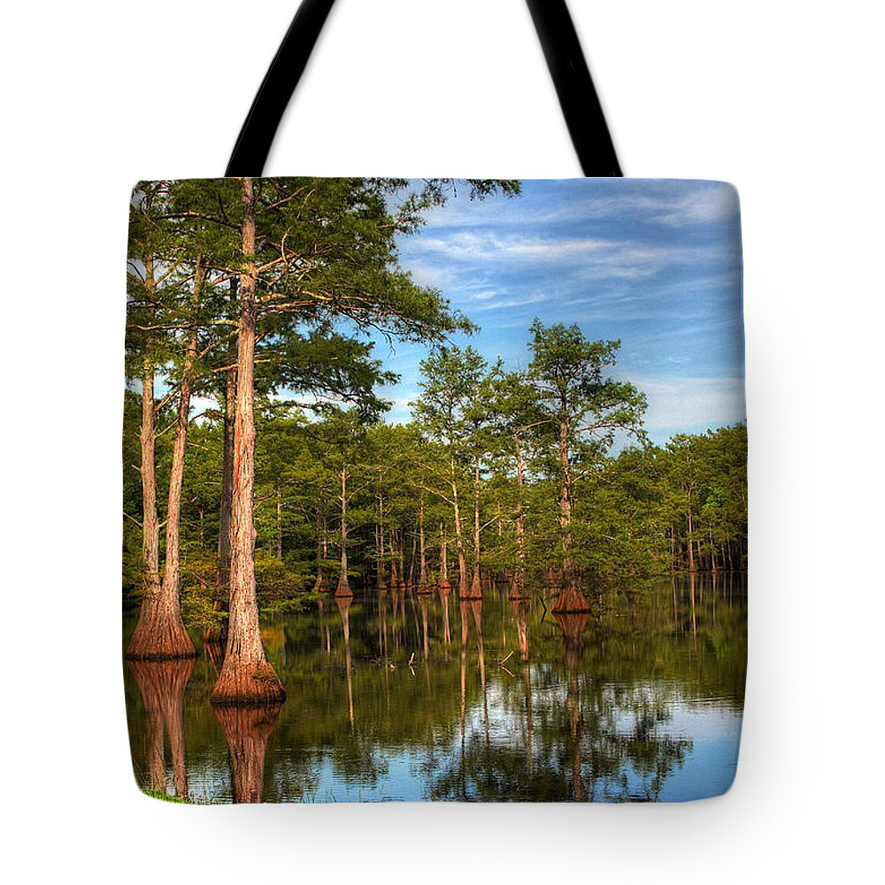 Quiet Tote Bag featuring the photograph Quiet Afternoon At The Bayou by Ester McGuire