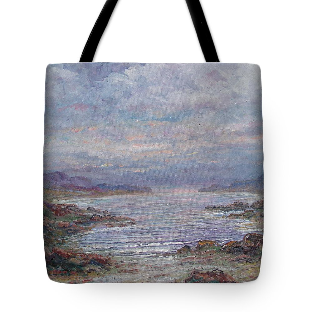 Painting Tote Bag featuring the painting Quiet Bay. by Leonard Holland