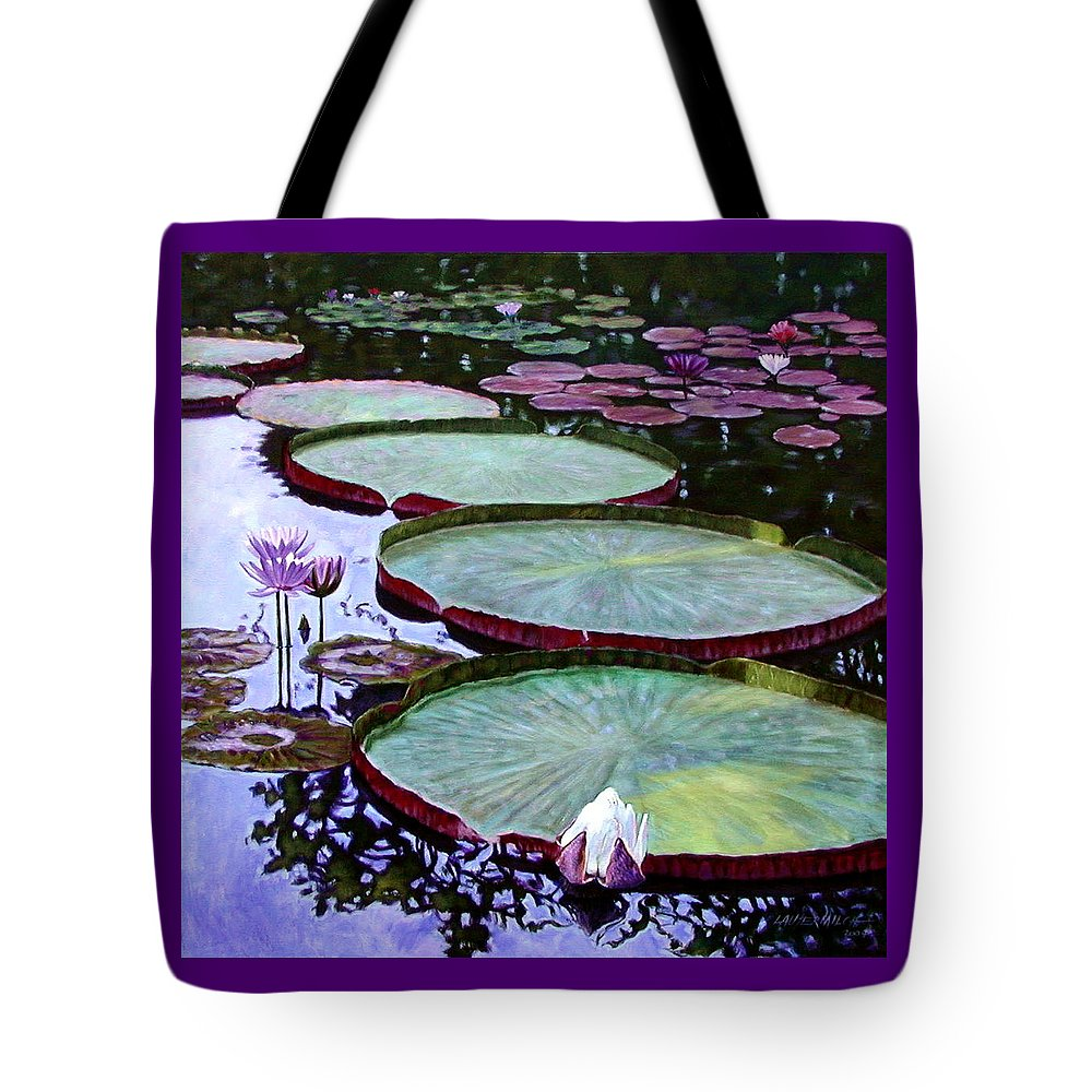 Botanical Tote Bag featuring the painting Quiet Beauty by John Lautermilch