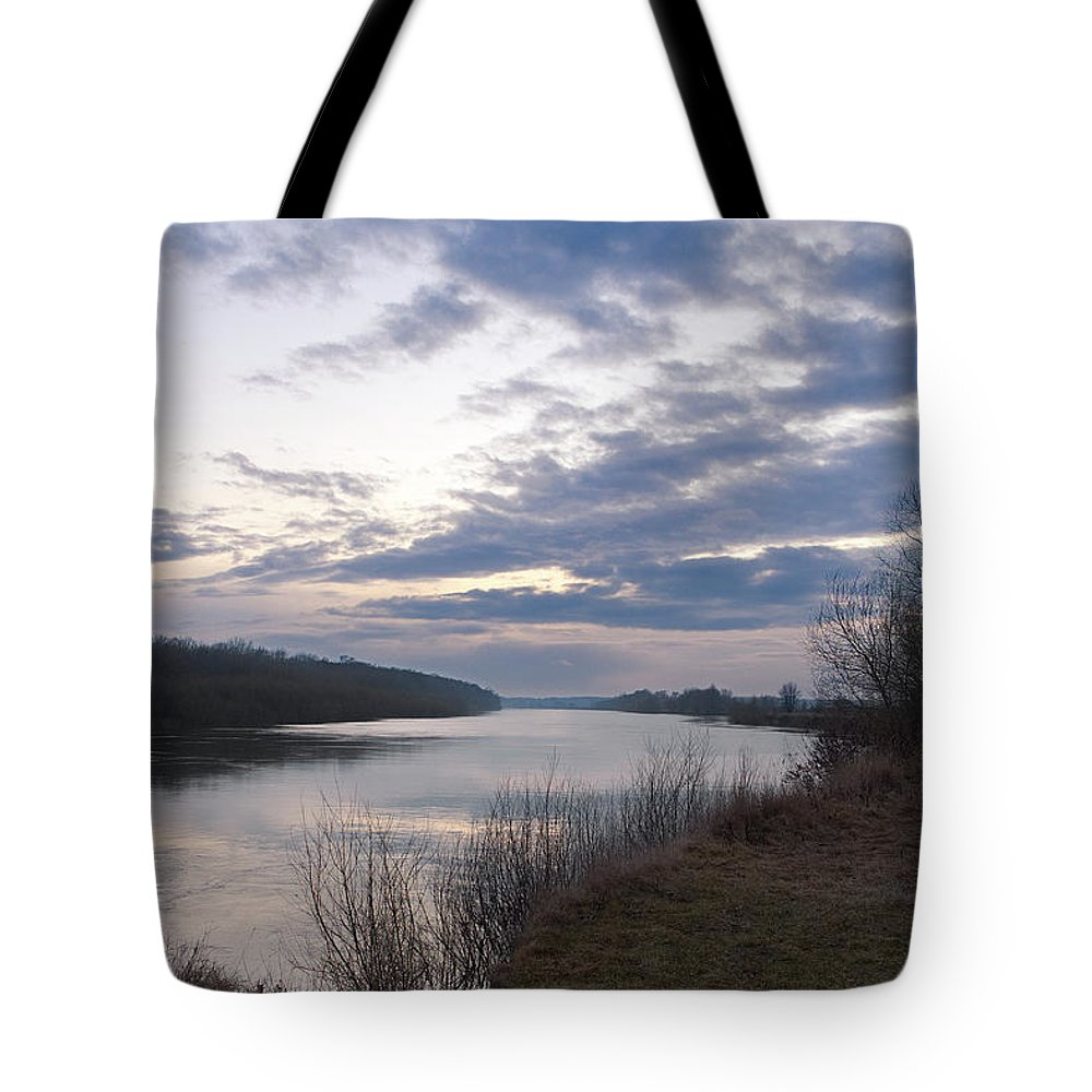Nature Tote Bag featuring the photograph Quiet Evening Over Desna River. Horytsya, 2017. by Mayk's PhotoArt