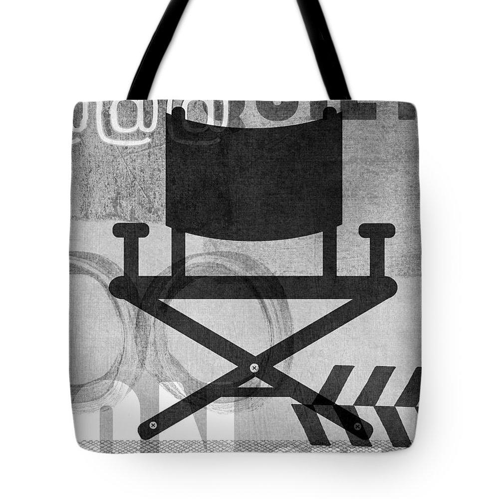 Movie Tote Bag featuring the digital art Quiet On Set- Art by Linda Woods by Linda Woods