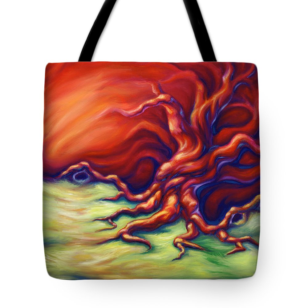 Oil Painting Tote Bag featuring the painting Quiet Place by Jennifer McDuffie