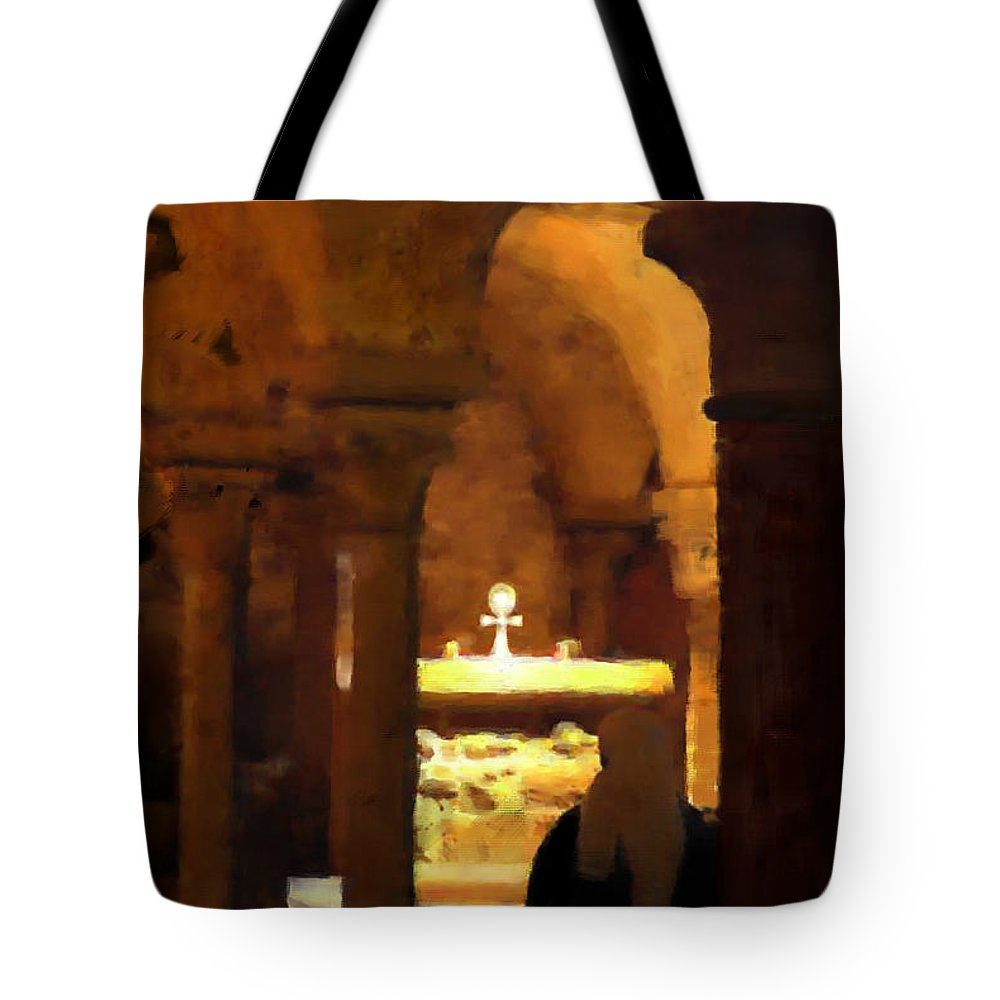 Prayer Tote Bag featuring the painting Quiet Prayers by Stephen Lucas