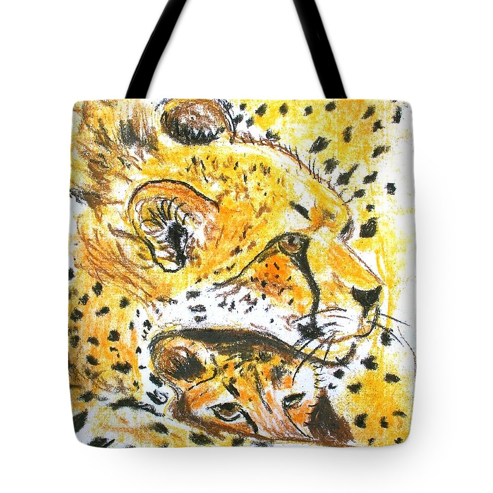 Pastels Tote Bag featuring the pastel Quiet Spot by George I Perez