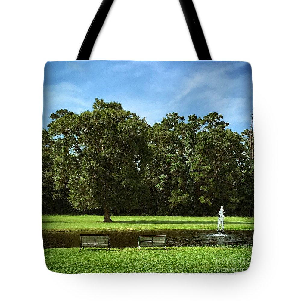 Pond Tote Bag featuring the photograph Quiet Time by John W Smith III