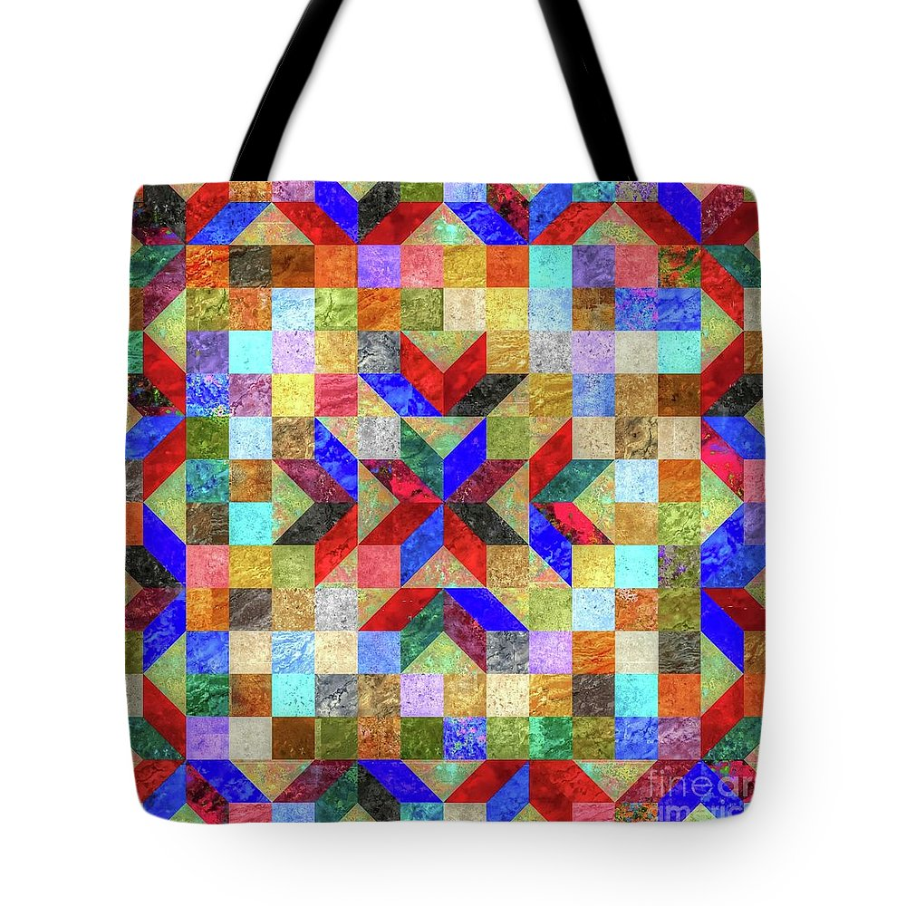 Quilt Tote Bag featuring the photograph Quilt Pattern No. 1 by Paul Lindner