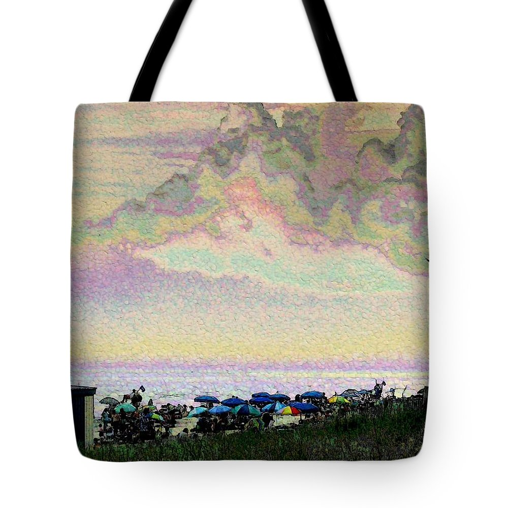Beach Tote Bag featuring the photograph Quilted Cloud by Jeffrey Todd Moore