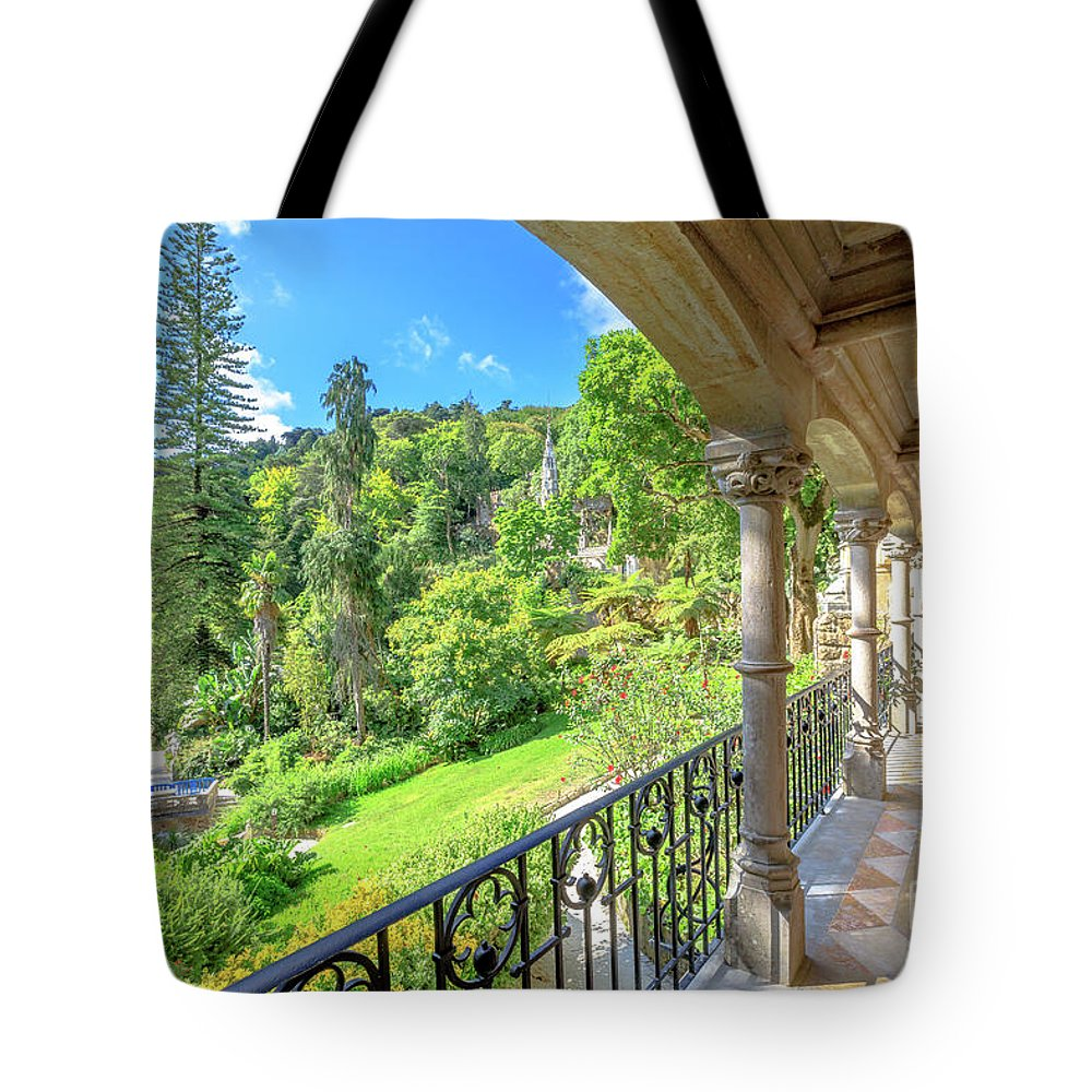 Sintra Tote Bag featuring the photograph Quinta Da Regaleira by Benny Marty