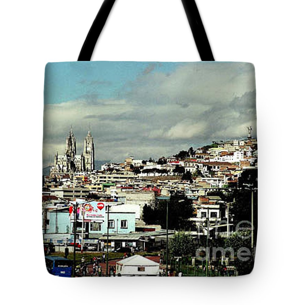 Ecuador Tote Bag featuring the photograph Quito by Kathy McClure