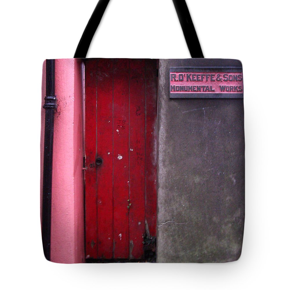 Red Tote Bag featuring the photograph R. O. Keeffee And Sons by Tim Nyberg