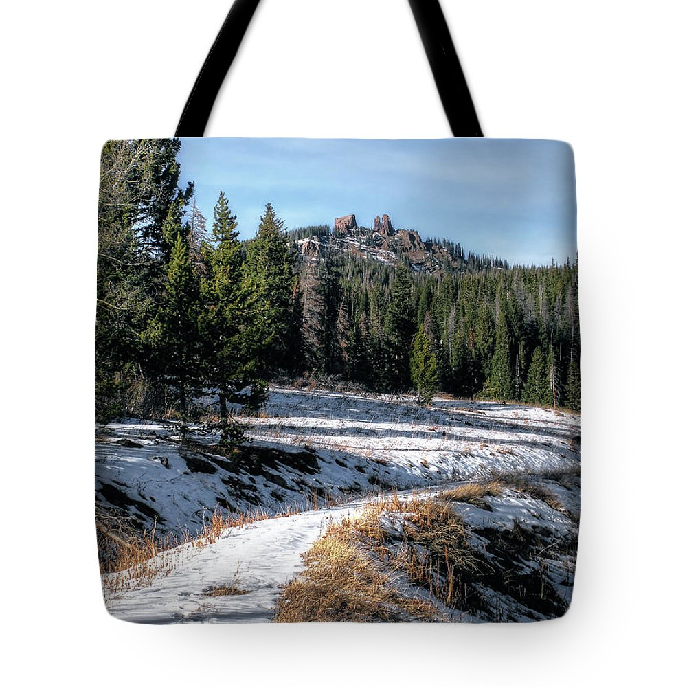 Colorado Tote Bag featuring the photograph Rabbit Ears Pass by Jim Hill