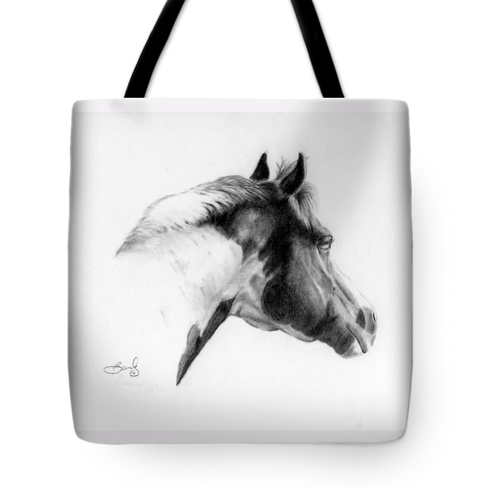 Pencil Drawing Tote Bag featuring the drawing Racer by Beverly Johnson