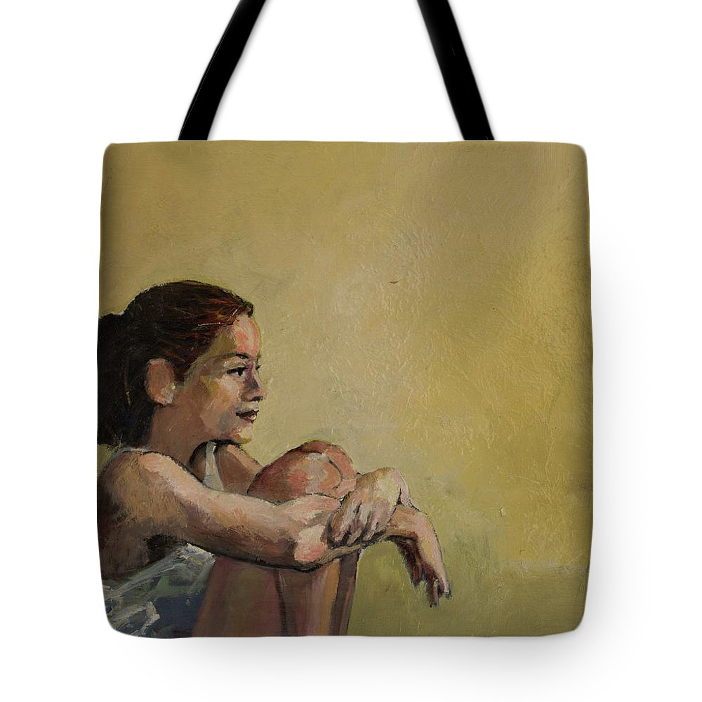 Portrait Tote Bag featuring the painting Rachel by Craig Newland