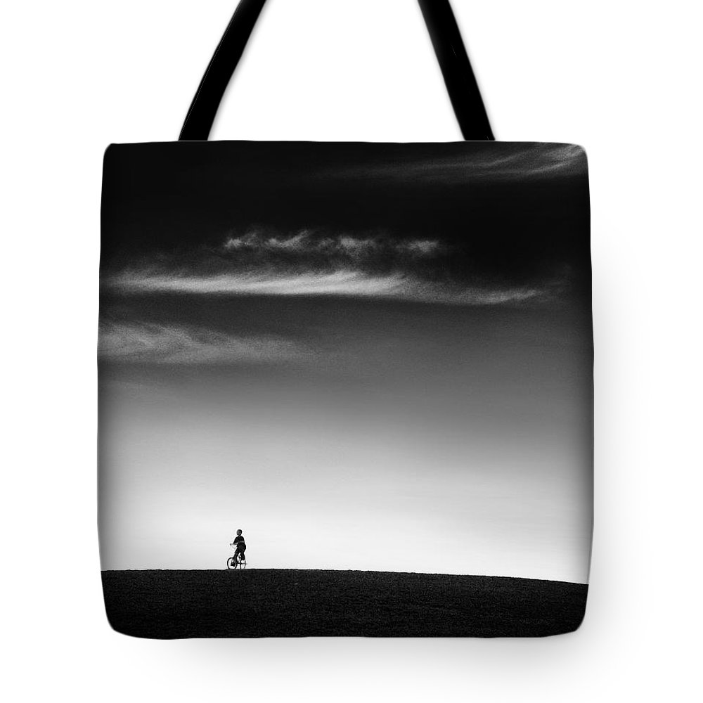 Boy Tote Bag featuring the photograph Racing The Wind by Dana DiPasquale