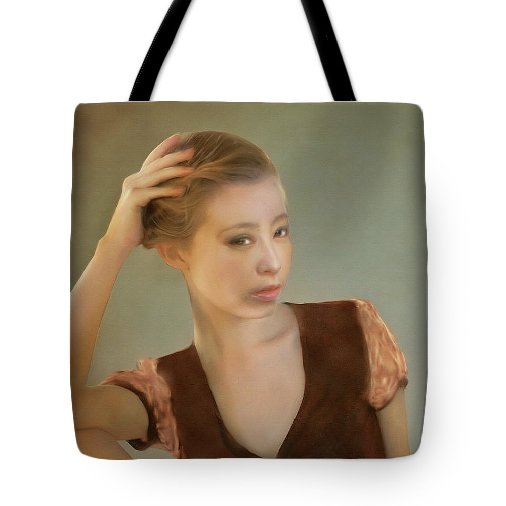 Salome Tote Bag featuring the painting Rada by Salome Hooper
