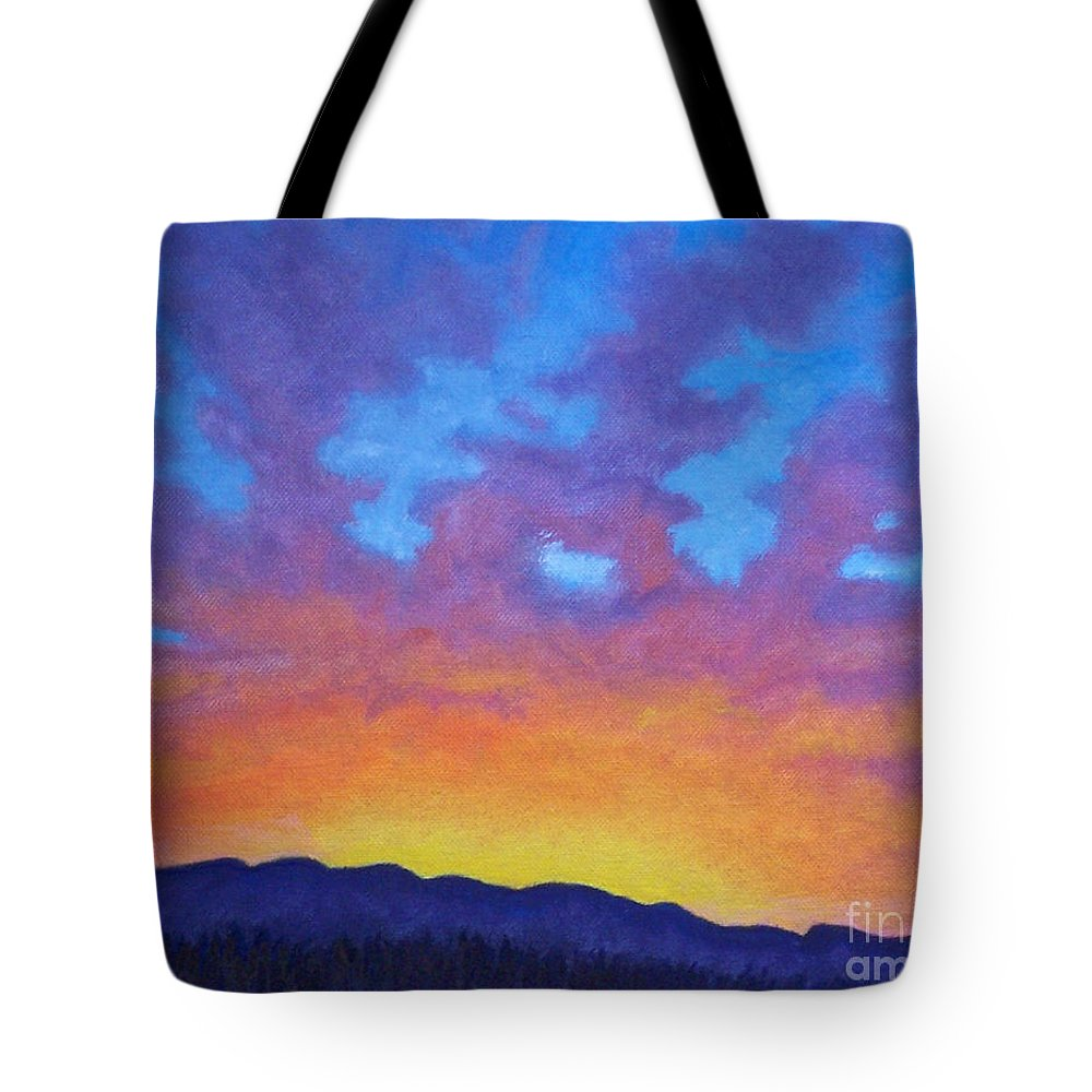 Landscape Tote Bag featuring the painting Radiance by Brian Commerford