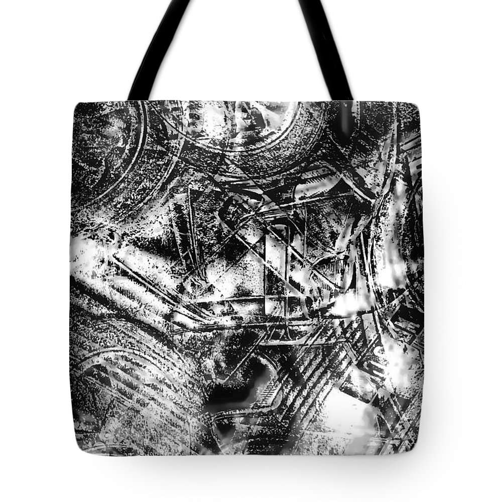 Abstract Tote Bag featuring the photograph Radiance In Monochrome by Tom Gowanlock