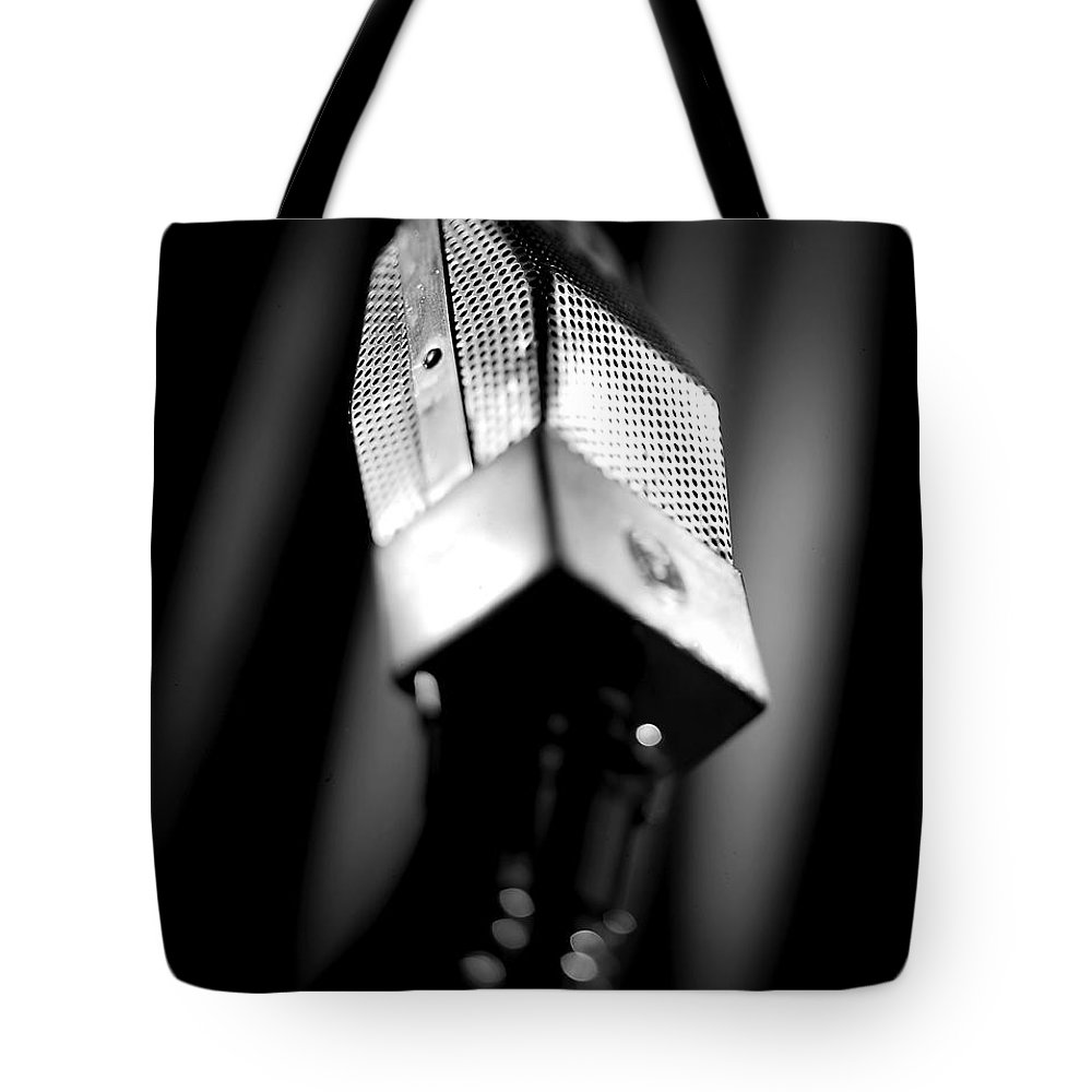 Mike Tote Bag featuring the photograph Radio Mike by Robert Ponzoni