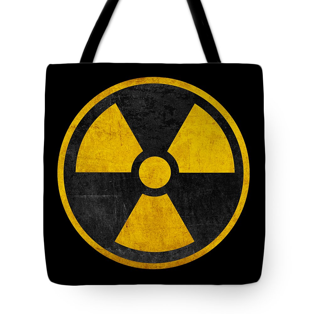 Vintage Distressed Nuclear War Fallout Shelter Sign Tote Bag For