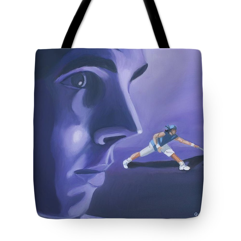Raphael Tote Bag featuring the painting Rafael Nadal by Quwatha Valentine
