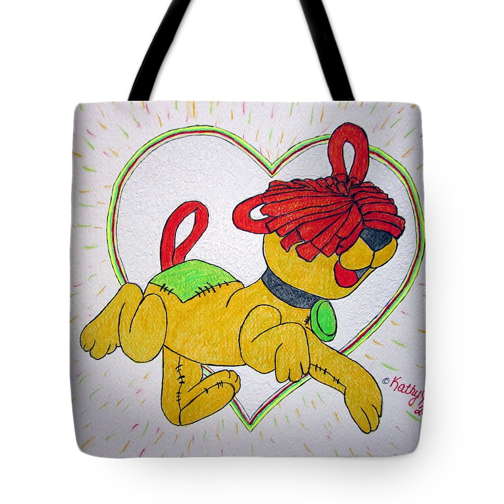 Raggedy Arthur Tote Bag featuring the painting Raggedy Arthur by Kathy Marrs Chandler