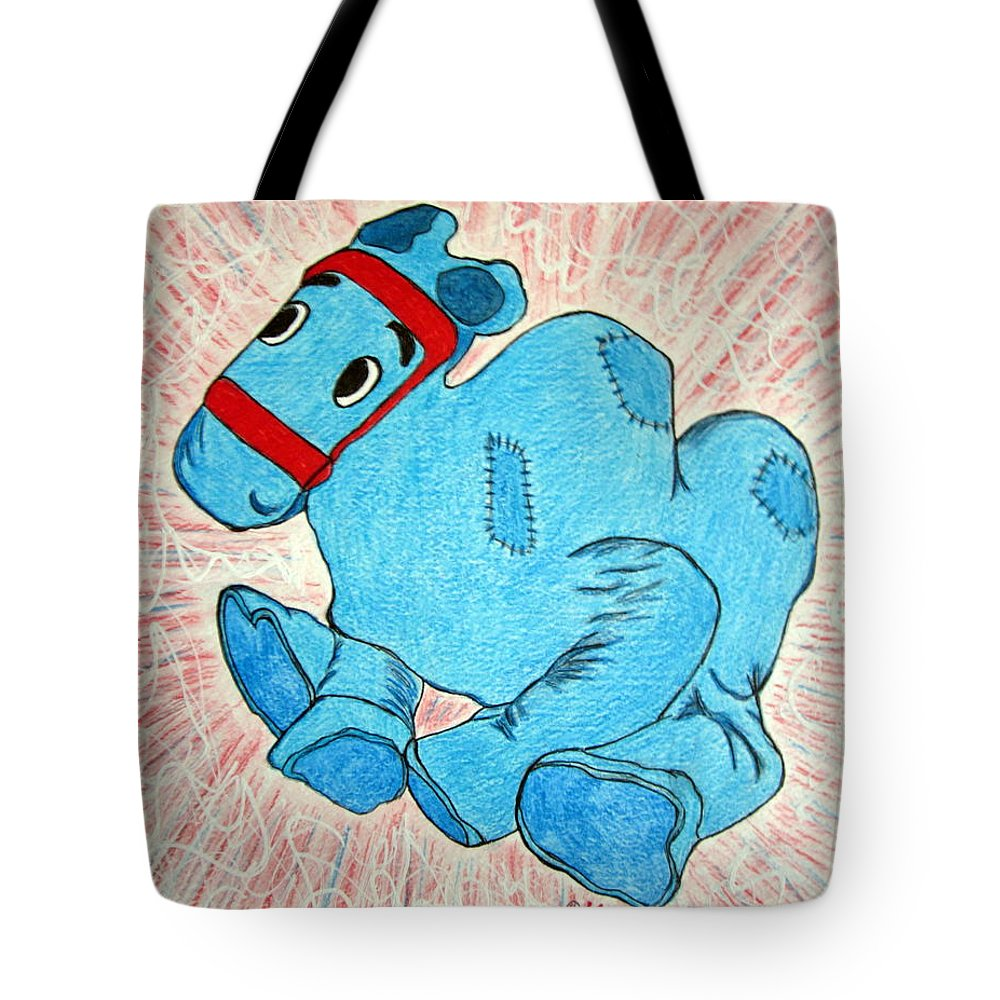 Raggedy Ann And Andy Camel Tote Bag featuring the painting Raggedy Camel by Kathy Marrs Chandler
