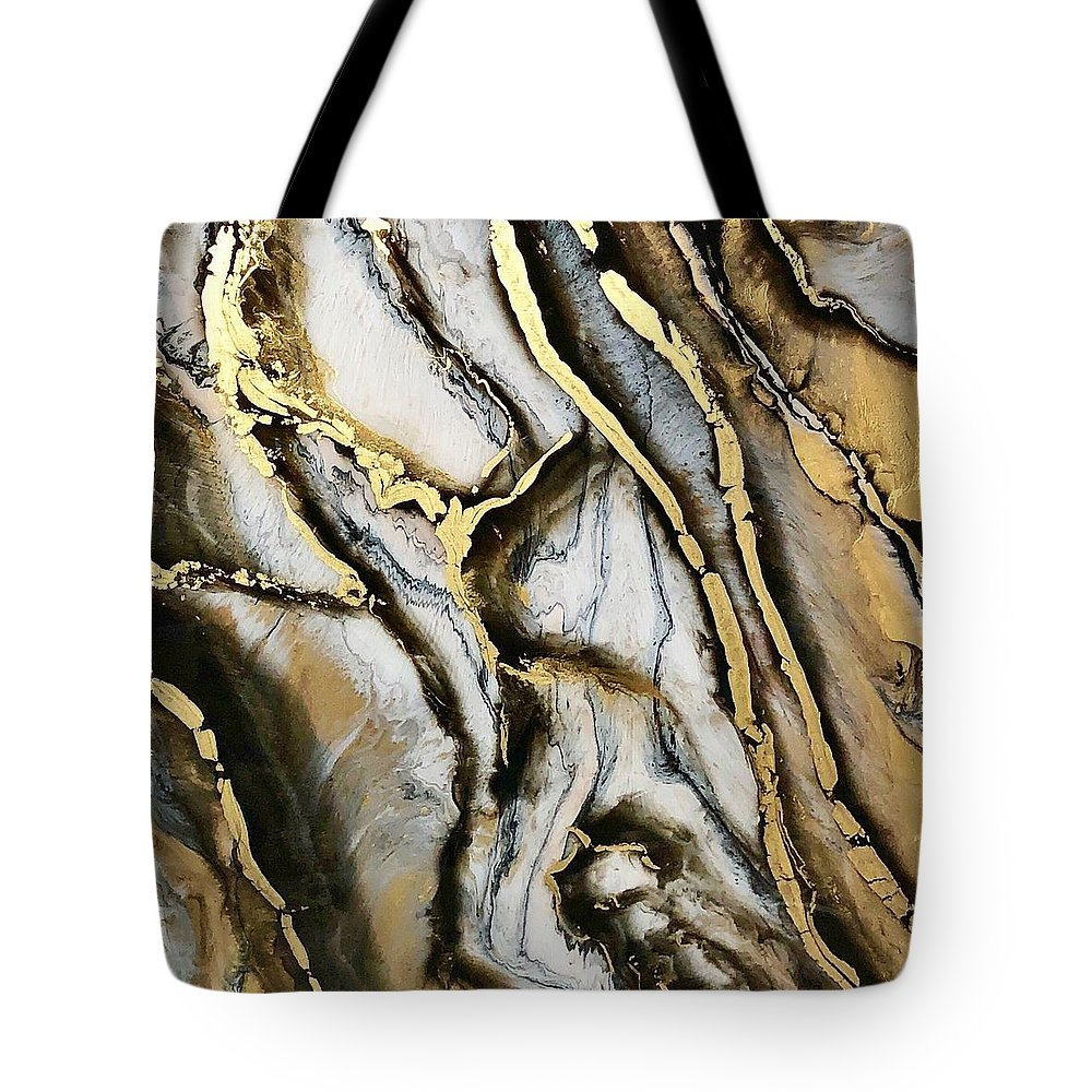 Resin Art Tote Bag featuring the painting Rags2riches by Michele Dibartolo