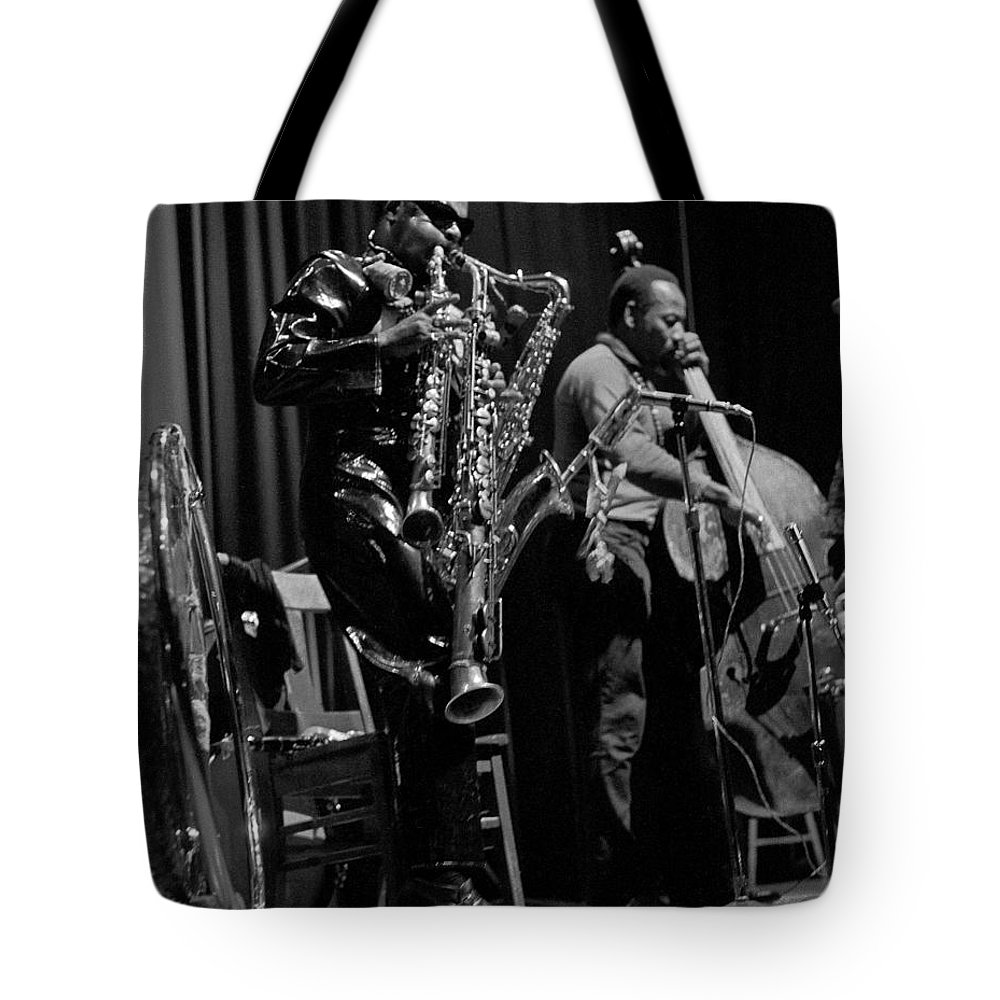 Rahsaan Roland Kirk Tote Bag featuring the photograph Rahsaan Roland Kirk 1 by Lee Santa