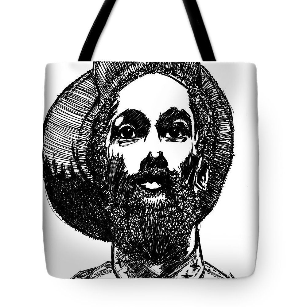 Ink Tote Bag featuring the painting Rahsta1 by SKIP Smith