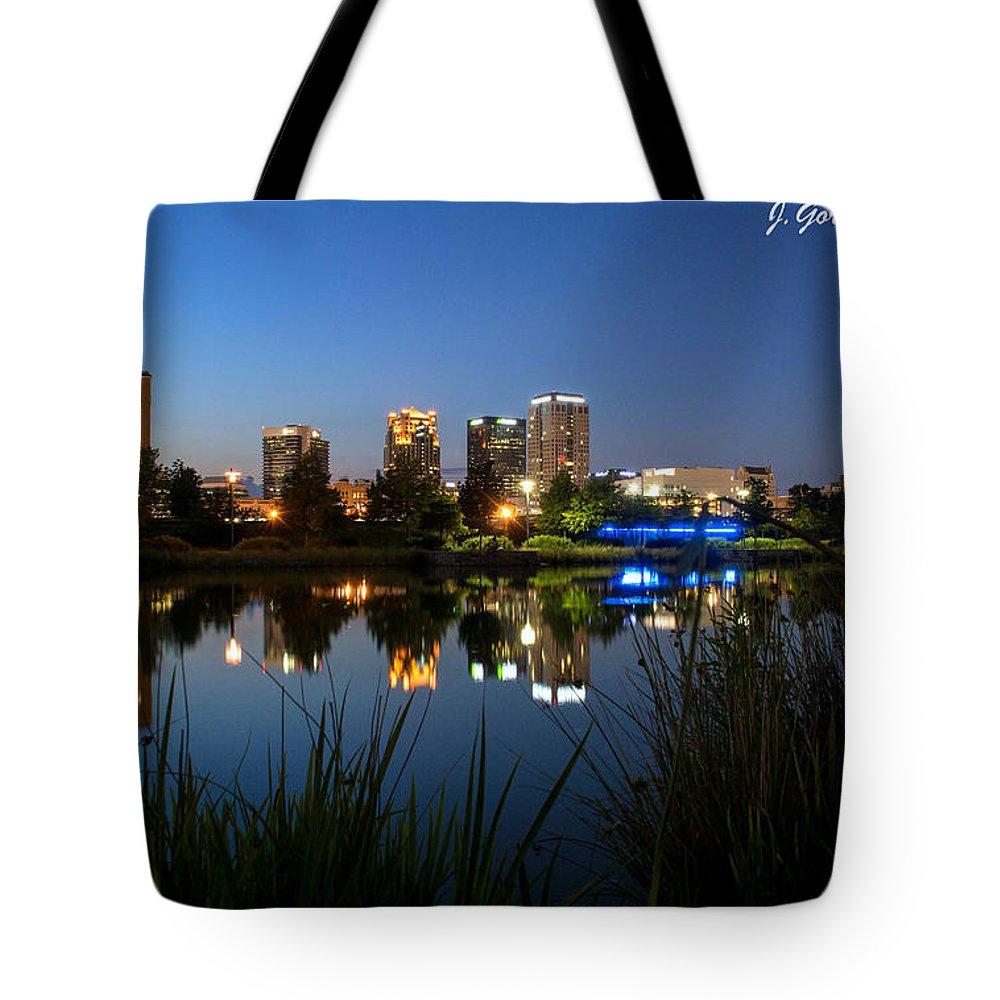 Birmingham Al Tote Bag featuring the photograph Railraod Park Bham, Al by Jeffery Gordon