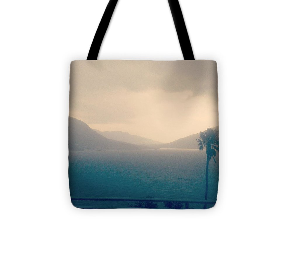 Summer Tote Bag featuring the photograph Storm Over The Sea by Pastime Ideas