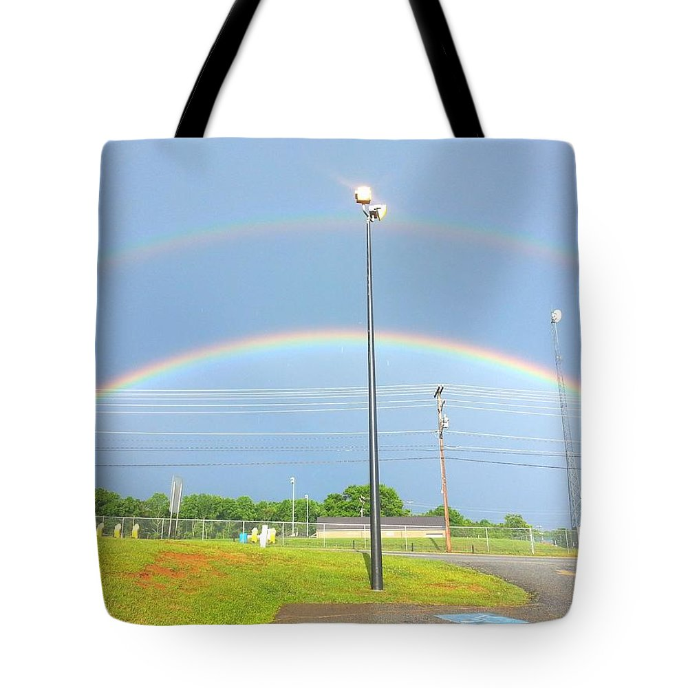Rainbow Tote Bag featuring the photograph Rainbow Beauty by Haley Sprouse