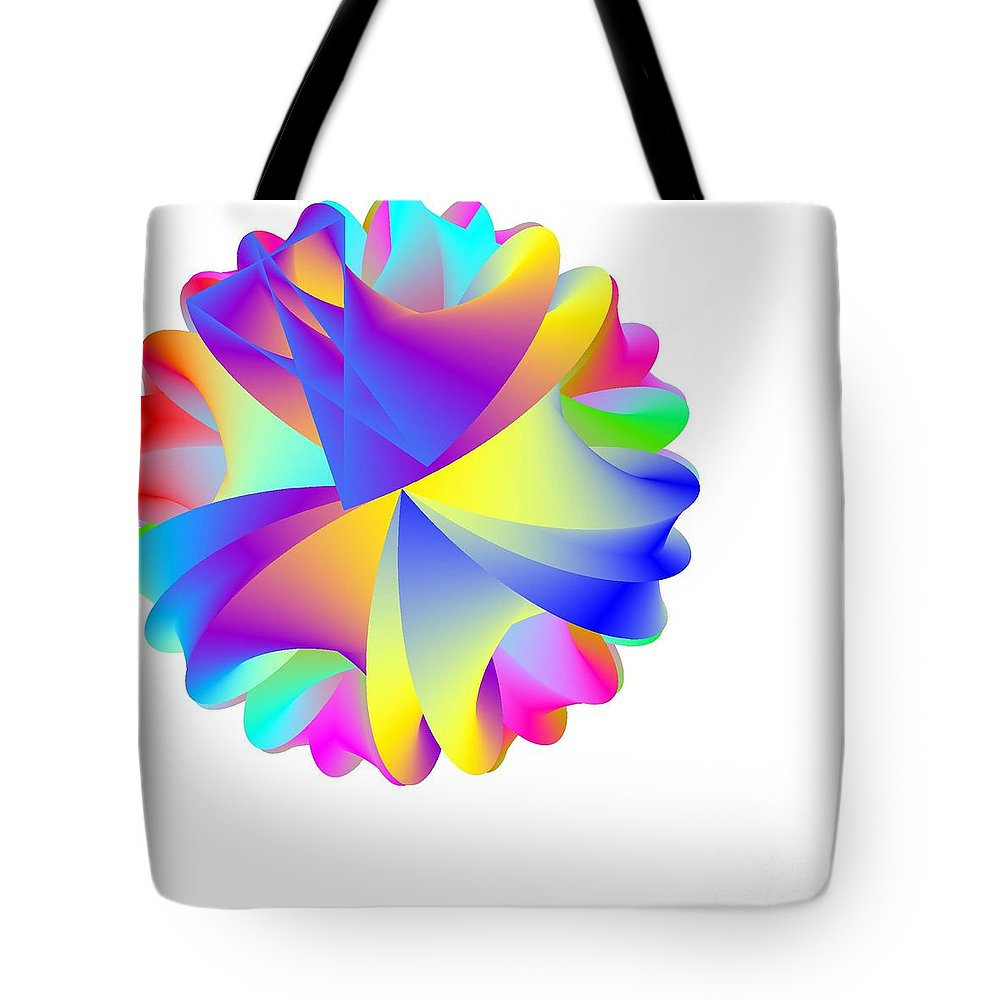 Rainbow Cluster Tote Bag featuring the digital art Rainbow Cluster by Michael Skinner