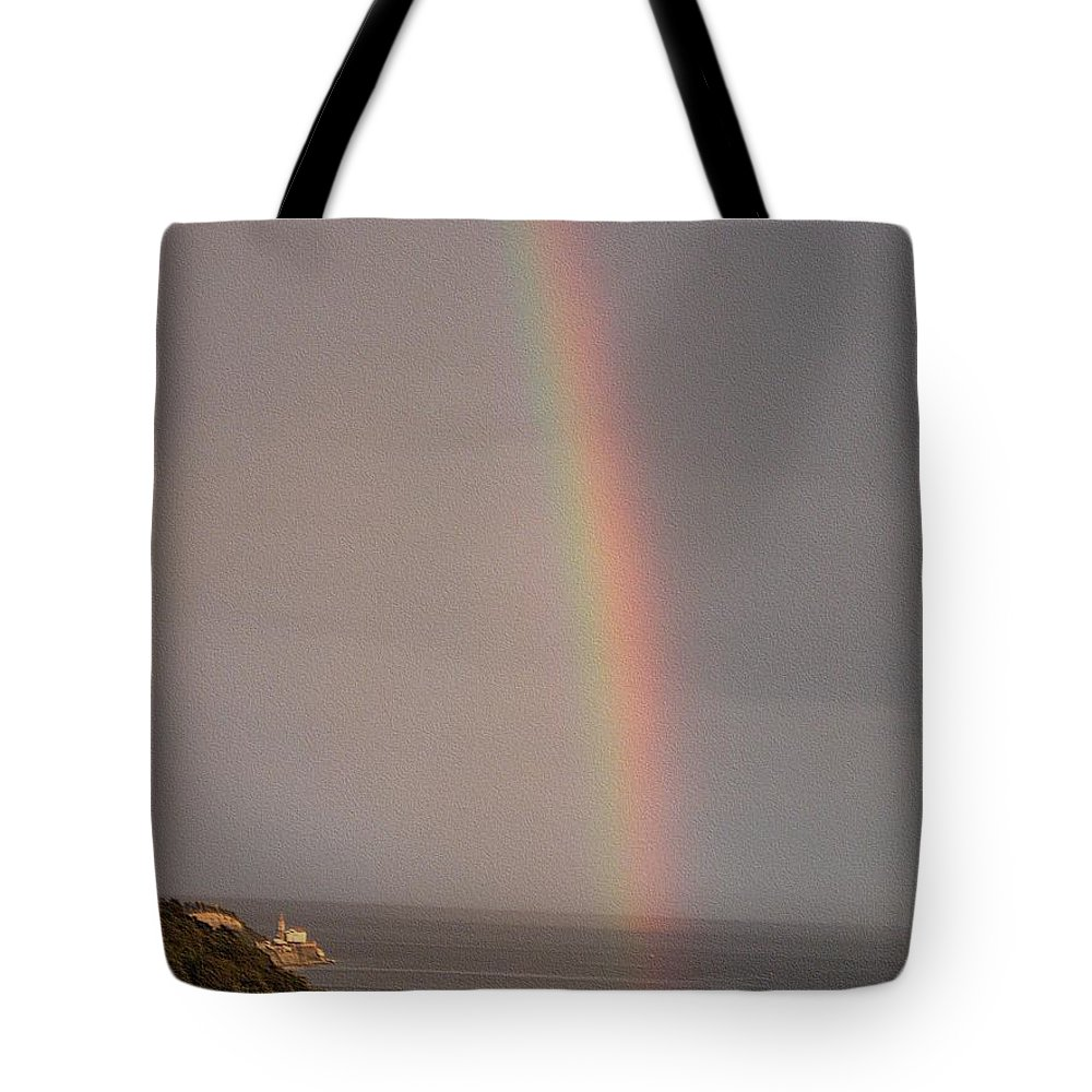 Rainbow Tote Bag featuring the photograph Rainbow by Dragica Micki Fortuna