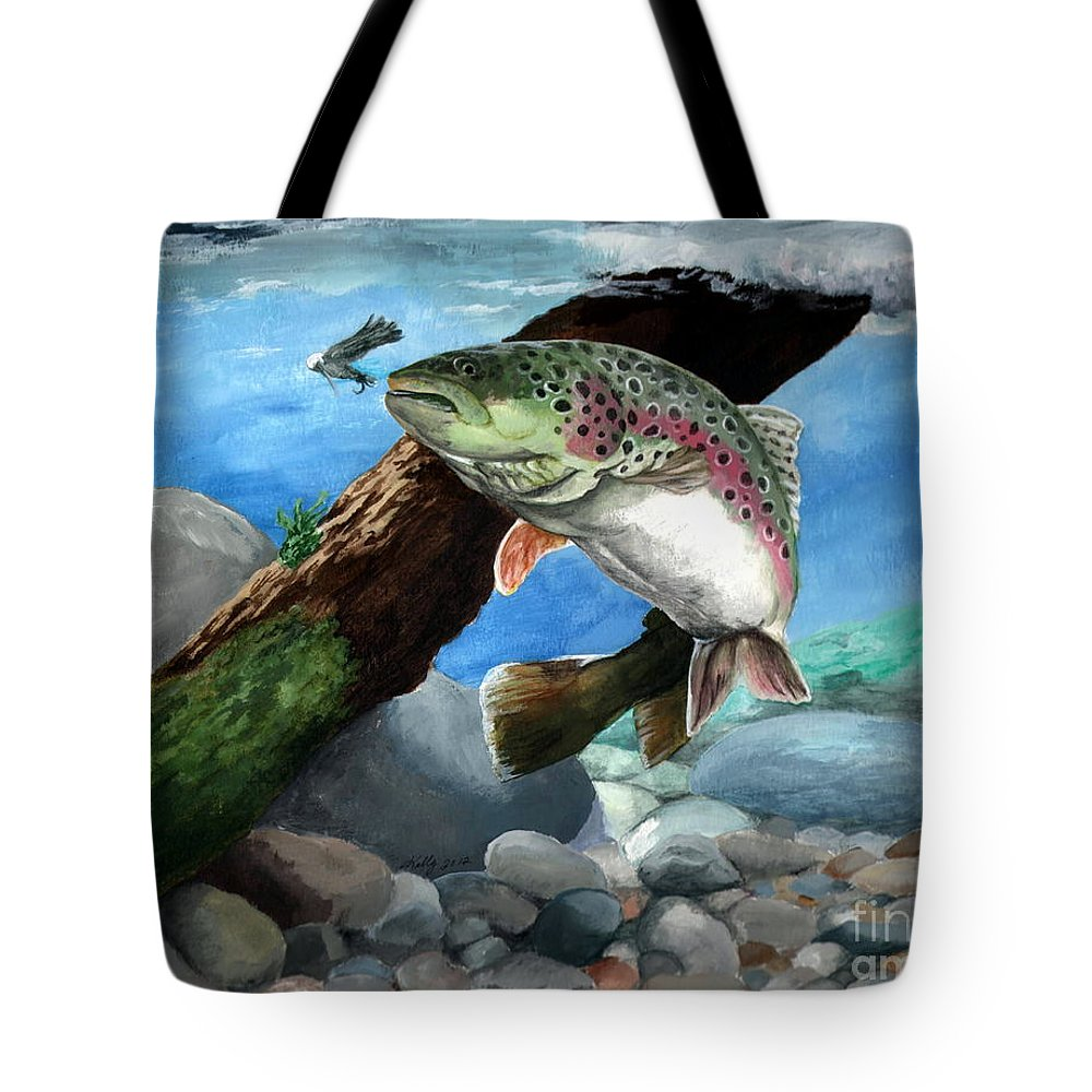Fish Tote Bag featuring the painting Rainbow by Kathleen Kelly Thompson
