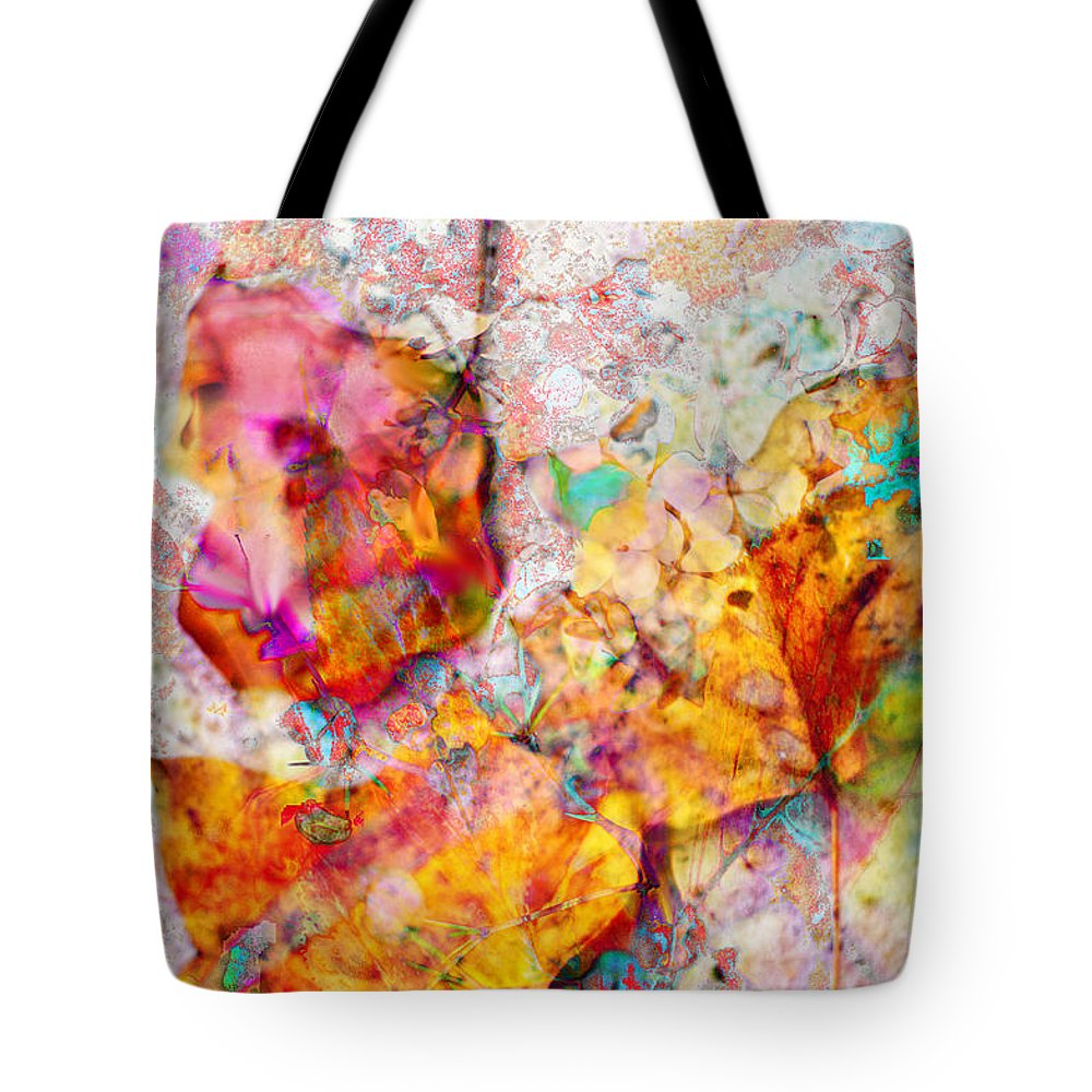 Abstract Leaves Tote Bag featuring the photograph Rainbow Abstract Leaves by Suzanne Powers